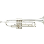 "Yamaha Professional Trumpet; Key of Bb; .459"" Bore; SIlver"