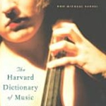 Harvard Dictionary of Music 4th Edition