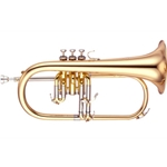 "Yamaha Professional Flugelhorn; Key of Bb; .433"" Bore; Laquer"