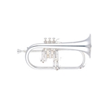 "Yamaha Professional Flugelhorn; Key of Bb; .433"" Bore; Silver"