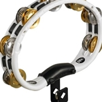 Meinl Mountable Recording/Combo ABS Tambourine, Dbl Row Mixed Jingles--White