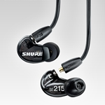 Shure SE215K Sound Isolating<SUP><SMALL>TM</SMALL></SUP> Earphones -Black
