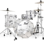 Pearl Crystal Beat 'The Standard' Acrylic 4-Piece Drum Set - Ultra Clear
