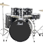 Pearl Roadshow  5pc drumset with Harware and Cymbals Jet Black (31)
