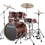 "Ludwig Element Evo 5pc Red w/ 22"" Bass"
